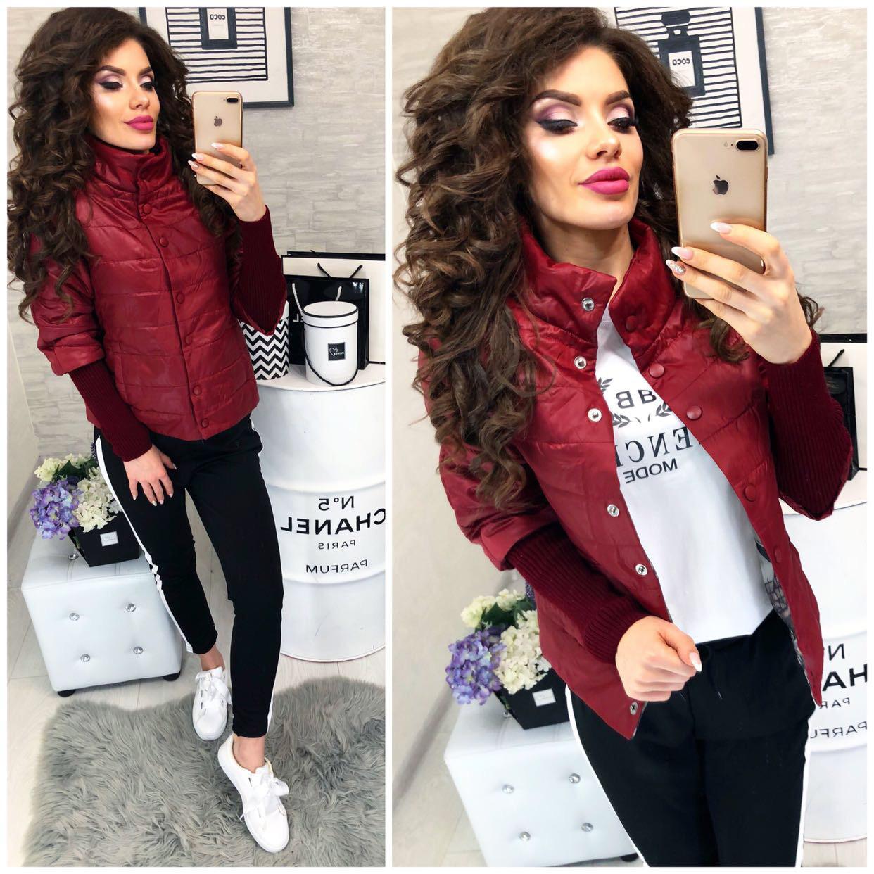 Куртка жіноча, 205, колір вишня