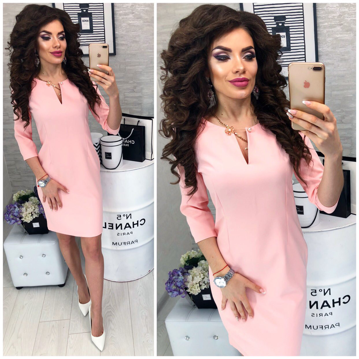 Сукня жіноча, модель 805, колір Ніжно-рожевий