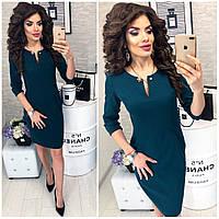 Платье женское, модель 805,  цвет Пиния(темно- зеленый)