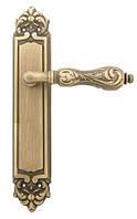 Ручка дверная на планке Fimet 147 Flora светлая бронза / темная бронза (Италия)