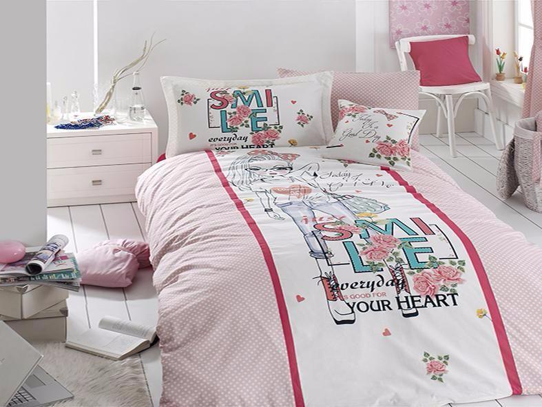 Комплект постельного белья First Choice Ranforce Deluxe SMILE 160*220