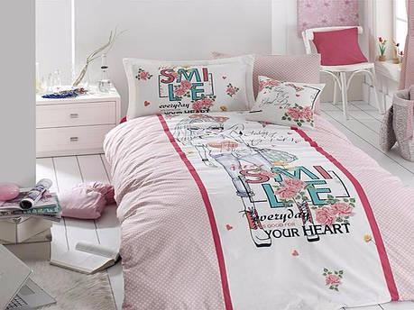 Комплект постельного белья First Choice Ranforce Deluxe SMILE 160*220, фото 2