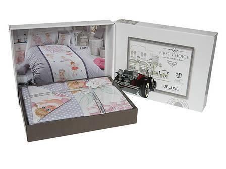 Комплект постельного белья First Choice Ranforce Deluxe CUTE GIRL 160*220, фото 2