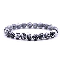 Браслет из натуральных камней Агат MS Bracelet Coloured Agate 881msb черный белый 19 размер