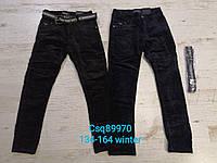 Вельветовые брюки для мальчиков на флисе Seagull 134-164 р.р., фото 1