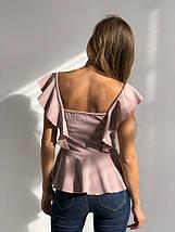 """Стильная женская блуза """"Lea"""" с оголенными плечами и баской (2 цвета), фото 3"""