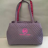 Женская сумка стеганая (лиловая) Michael Kors