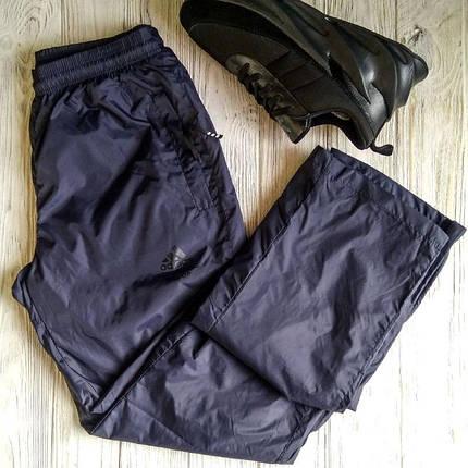 Штаны мужские спортивные Adidas Тёмно-синие плащёвка, фото 2