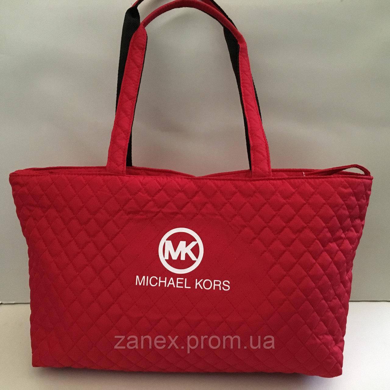 Женская сумка стеганая (красная) Michael Kors