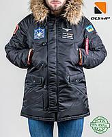 Мужская зимняя парка куртка аляска N3B Olymp c нашивками, фото 1