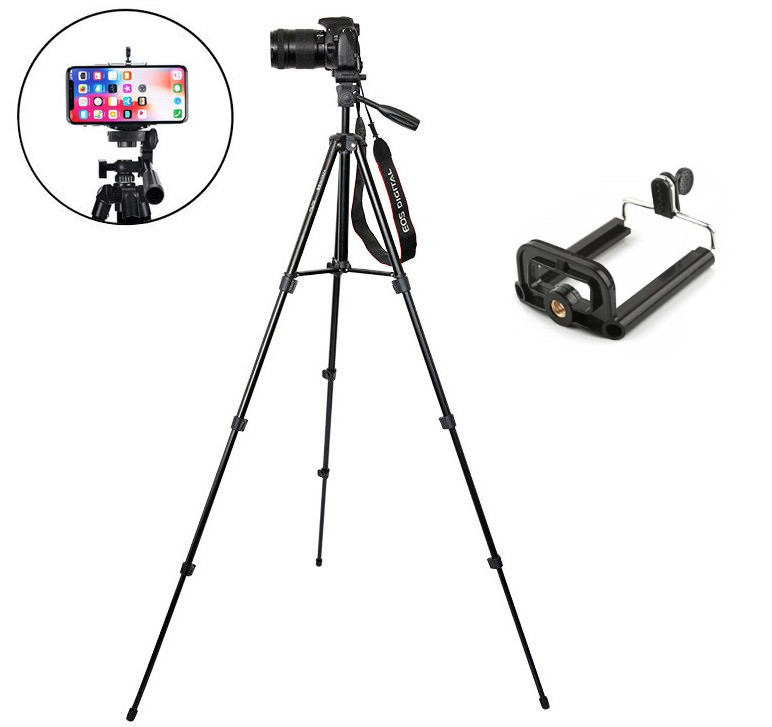 Фото Видео штатив 145 см A608. Трипод для фотоаппарата и мобильного смартфона