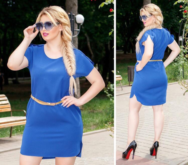 Сукня з поясом, модель 815, Колір Електрик