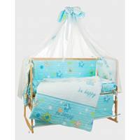 Bepino Би хэппи голубой комплект постельного белья
