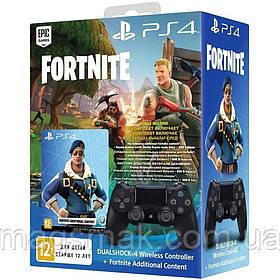 Геймпад PS4 Dualshock 4 V2 Black+ваучер Fortnite (2019)
