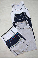 Детский комплект нижнего белья для мальчика Katamino Турция трусы и майка Синий