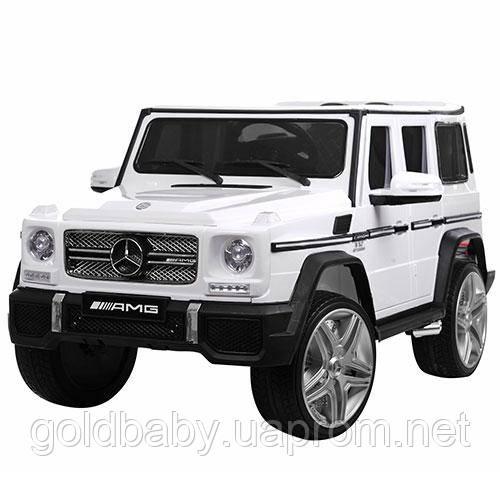 Детский электромобиль Mercedes G65 VIP M 3567 EBLR-1, Ева колеса кожа - белый, фото 1