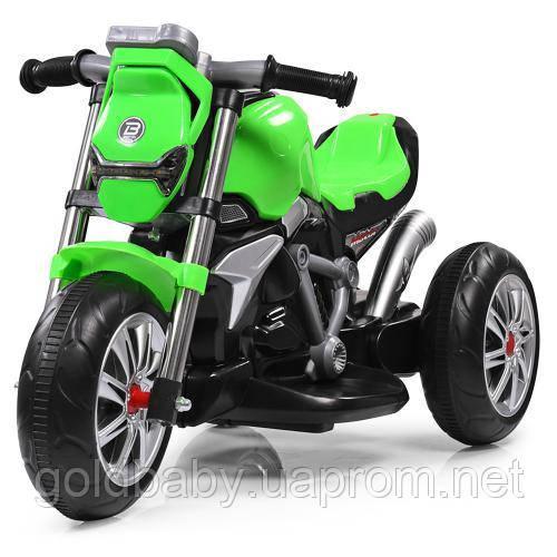 Детский трех колесный мотоцикл BAMBI M 3639-5 салатовый, фото 1