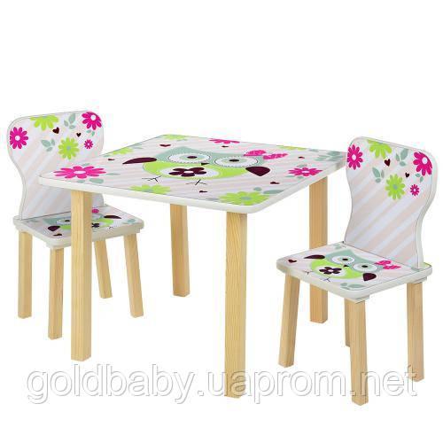 "Детский столик со стульчиками 508-61 ""Сова"", фото 1"