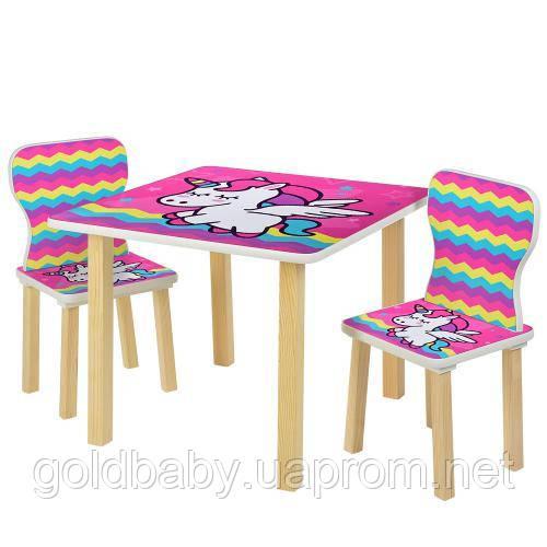"""Детский столик со стульчиками 508-64 """"Единорог"""""""