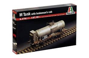 M Tank with Brakeman`s Cab . Сборная модель вагона. 1/87 ITALERI 8706