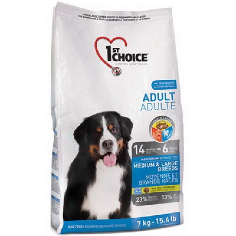 Сухой корм для собак средних и крупных пород с курицей 1st Choice Adult Medium&Large Chicken 7 кг