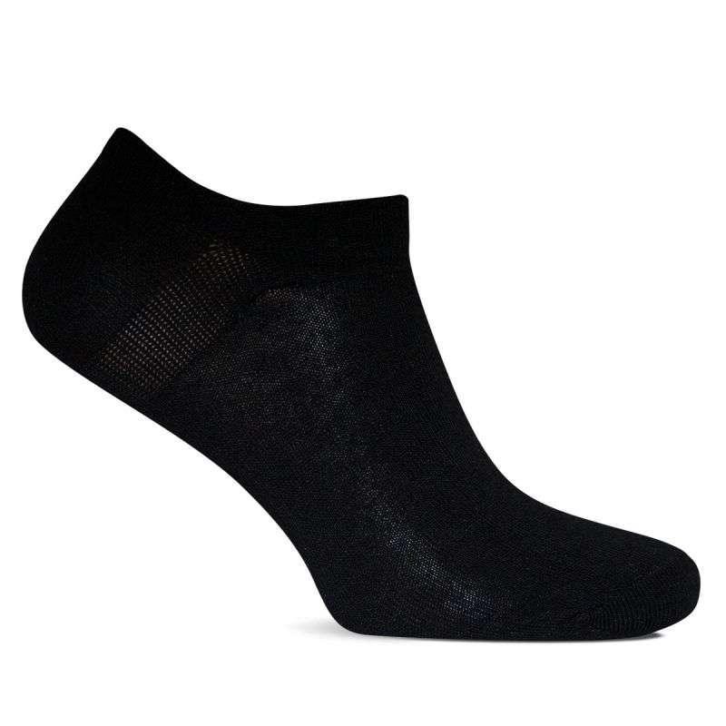 Носки женские короткие спортивные Лана Лайкра СНИКЕРСЫ черные