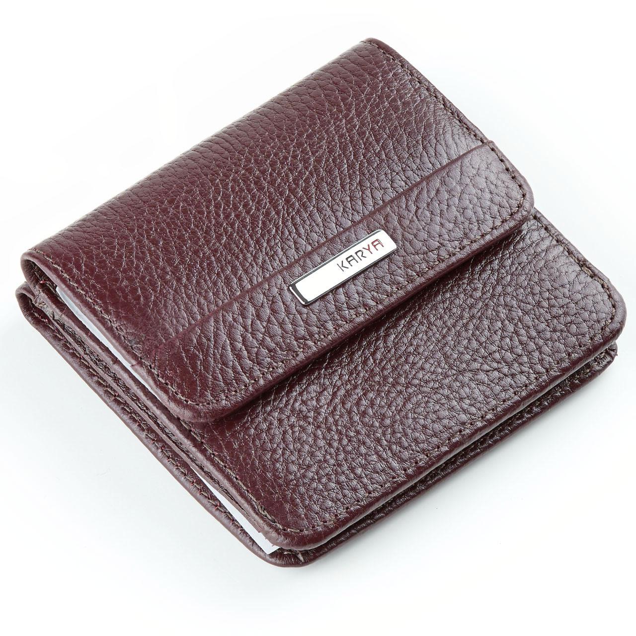 Маленький женский кошелек Karya 1106-243 кожаный бордовый