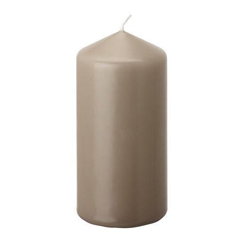 "ИКЕА ""ДАГЛИГЕН"" Неароматич свеча формовая, серый"