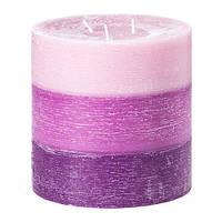 """ИКЕА """"ВИЛЛИГ"""" ароматическая свеча, 3 фитиля фиолетовый"""