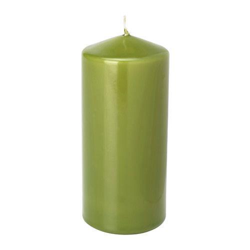 """ИКЕА """"ДАГЛИГЕН"""" Неароматич свеча формовая, классический зеленый"""