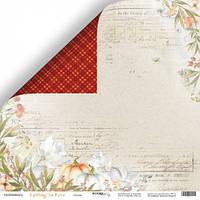 Лист двусторонней бумаги 30x30 от Scrapmir Осень из коллекции Falling in Love 10шт SM5800001