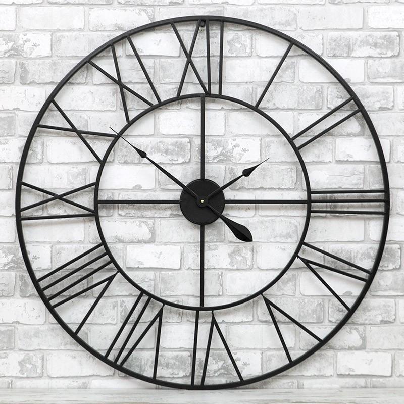 Часы настенные металлические в стиле винтаж Milano 100 см