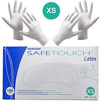 Перчатки латексные Medicom Safe-Touch Latex упаковка - 50 пар, размер XS (без пудры), белые
