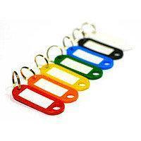 Брелок-идентификатор для ключей на кольце 6шт в пластиковом пенале | Номерок