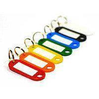 Брелок-идентификатор для ключей на кольце 6шт в пластиковом пенале | Номерок, фото 2