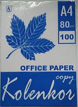 """Офісний папір A4 """"Copy Kolenkor"""" 100 аркушів 80гр/м"""