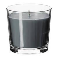 """ИКЕА """"СИНЛИГ"""" Ароматическая свеча в стакане, эффект спа, серый"""