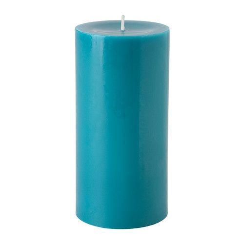 """ИКЕА """"СИНЛИГ"""" Формовая свеча, ароматическая, морской бриз, бирюзовый"""