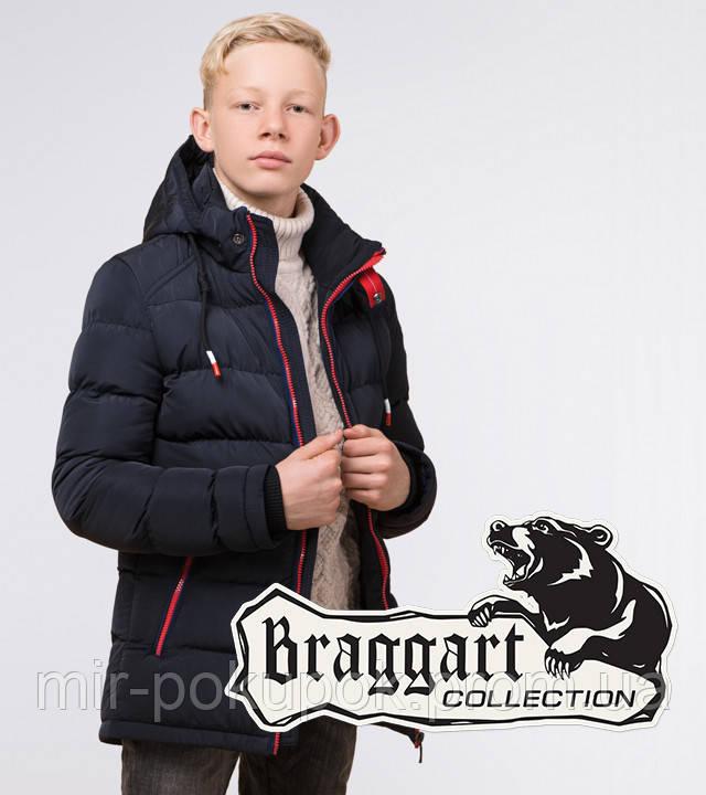 Braggart Kids | Детская зимняя куртка 60455 темно-синяя, фото 1