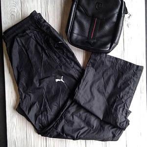 Штаны мужские спортивные Puma чёрный цвет плащёвка