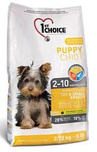 Сухой корм для щенков малых пород с курицей 1st Choice Puppy Toy&Small Chicken 2,72 кг