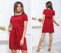 Платье с выбитым рисунком , модель 109, цвет Бордовый