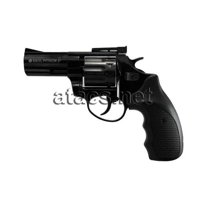 Револьвер под патрон Флобера Ekol Python 3 black пластик