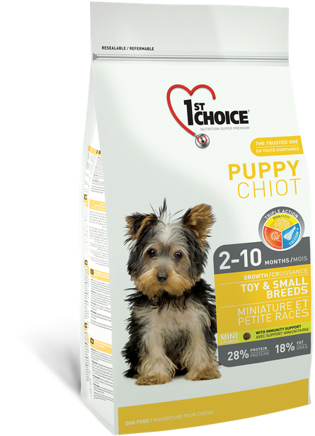 Сухой корм для щенков малых пород с курицей 1st Choice Puppy Toy&Small Chicken 7 кг