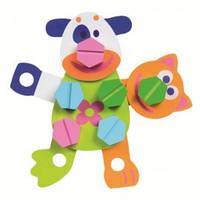 Boikido Развивающая игрушка конструктор Веселые зверята