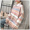 Полосатый стильный свитер 44-50 (в расцветках), фото 6