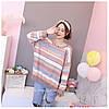 Теплый свитер женский в полоску 44-50 (в расцветках), фото 4