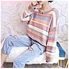Теплый свитер женский в полоску 44-50 (в расцветках), фото 6