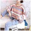 Теплый свитер женский в полоску 44-50 (в расцветках), фото 2