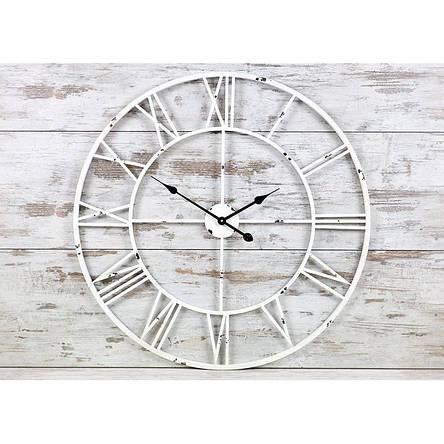 Часы настенные металлические в стиле винтаж  - Milano White 100, фото 2